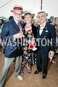 C Braxton Moncure, Deborah Moncure, Daniel Victor Dowd. Photo by Alfredo Flores. Tudor Place Garden Party. Tudor Place. May 20, 2015