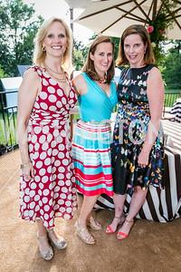 Kim Holland, Kate Meek, Katharine Gregg. Photo by Alfredo Flores. Tudor Place Garden Party. Tudor Place. May 20, 2015