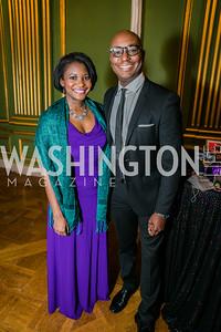 Jummy Olabanji, Darren Sands. Photo by Alfredo Flores.  United Negro College Fund 2015 Washington Mayor's Masked Ball. Andrew W Mellon Auditorium. March 7, 2015.