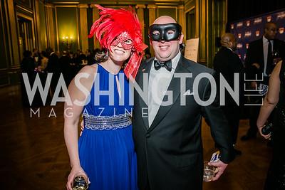 Amanda Goldblatt, David Goldblatt. Photo by Alfredo Flores.  United Negro College Fund 2015 Washington Mayor's Masked Ball. Andrew W Mellon Auditorium. March 7, 2015-2.CR2