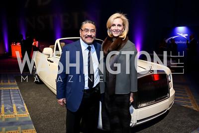 Bob Hisaoka, Katherine Bradley. Photo by Tony Powell. VIP Exotic Car & Luxury Lifestyle Reception. Convention Center. January 22, 2015