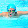 Lamarlins swimmer Evan Larrick swims the 50 yard leg of the butterfly  in the Boys 10 & Under 200 Yard Medley Relay on Saturday morning (July 27) during competition in the Valley Championship held in Lamar. Lamar placed first in the event.