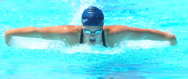 Lamarlins swimmer Taylor Wetz competes in the Girls Open 100 Yard Freestyle during the Valley Championships held at the Lamar Swimming Pool over the weekend.