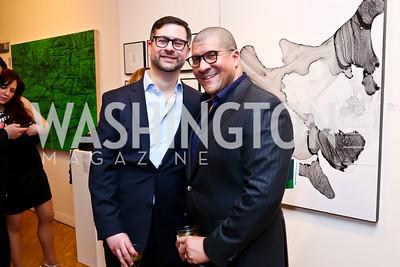 Ken Hyle and Dale Mott. Photo by Tony Powell. 2015 WPA Gala. Artisphere. March 7, 2015