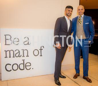 Vinoda Basnayake, Sim Khan, Becky's Fund and Men of Code, Walk This Way, Fashion Show, Embassy of Italy, November 19, 2015, photo by Ben Droz.