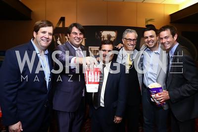 "Adam Falkoff, Arthur L. Bernstein, Rep. Gus Bilirakis, Richard Bernstein, Armando Gutierrez, Timothy Neil Williams. Photo by Tony Powell. ""Walt Before Mickey"" Screening. June 25, 2015"
