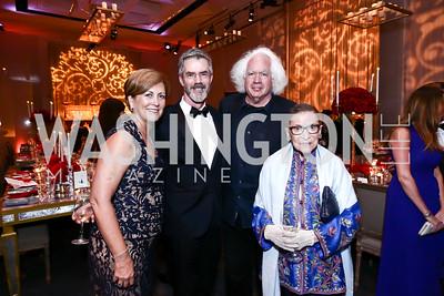 "Deborah Rutter, Robert Van Leer, Leon Wieseltier, Justice Ruth Bader Ginsburg. Photo by Tony Powell. WNO Opening of ""Carmen."" Kennedy Center. September 19, 2015"