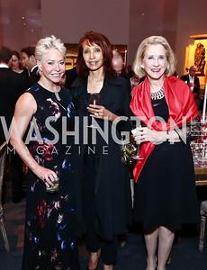 """Mary Ourisman, Rohini Talalla, Marcia Mayo. Photo by Tony Powell. WNO Opening of """"Carmen."""" Kennedy Center. September 19, 2015"""
