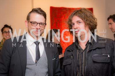 Jeremy Flick, Dan Steinhilber, Washington Project on the Arts, Opening at Atlantic Plumbing, November 14, 2015, photo by Ben Droz.
