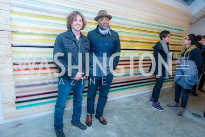 Billy Colbert, Dan Steinhilber, Washington Project on the Arts, Opening at Atlantic Plumbing, November 14, 2015, photo by Ben Droz.