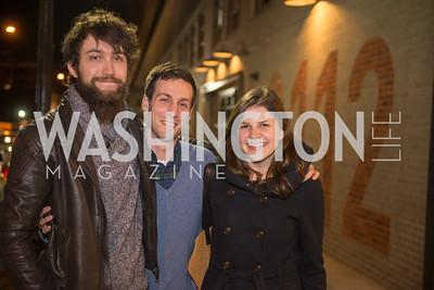 Chris Svetlik, Daniel Bleiberg, Beth Shook, Washington Project on the Arts, Opening at Atlantic Plumbing, November 14, 2015, photo by Ben Droz.