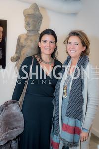 Raquel Garcia, Patricia Andres, Washington Project on the Arts, Opening at Atlantic Plumbing, November 14, 2015, photo by Ben Droz.