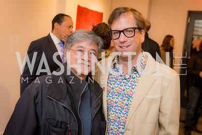 Foon Sham, Peter Nesbett, Washington Project on the Arts, Opening at Atlantic Plumbing, November 14, 2015, photo by Ben Droz.