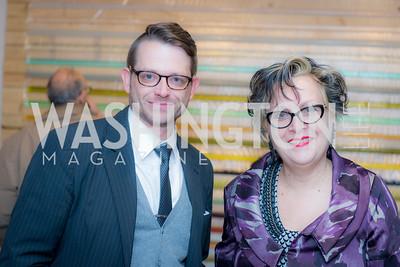 Jeremy Flick, Linda Hesh, Washington Project on the Arts, Opening at Atlantic Plumbing, November 14, 2015, photo by Ben Droz.