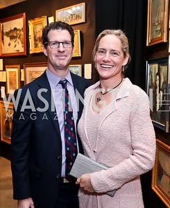 Steven and Katie Gewirz. Photo by Tony Powell. 2015 Washington Winter Show. Katzen Center. January 8, 2015