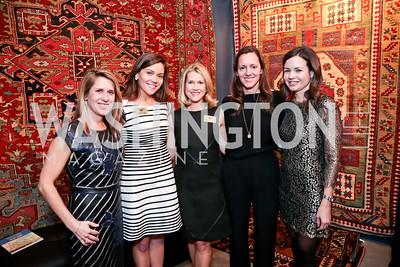 Dory Clark, Leslie Jones, Blair Bourne, Sarah Cannova, Susan Dowhower. Photo by Tony Powell. 2015 Washington Winter Show. Katzen Center. January 8, 2015