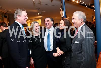 Bob and Vivian Braunohler, Davis Camalier, Gail and Chris Camalier. Photo by Tony Powell. 2015 Washington Winter Show. Katzen Center. January 8, 2015