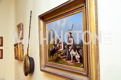 An oil painting of young hunters by John Henry Hill. Photo by Tony Powell. 2015 Washington Winter Show. Katzen Center. January 8, 2015