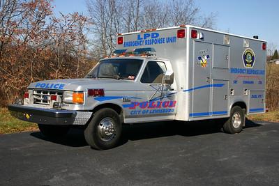 Lewisburg, WV Police.  Ex- Ford F350 ambulance.