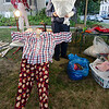 Chuck Heidorn leads a scarecrow workshop in Westminster on Monday evening. SENTINEL & ENTERPRISE / Ashley Green