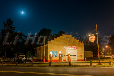 Yaphank Garage at night.