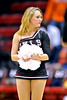 NOVEMBER 16 - PHILADELPHIA: A Temple Diamond Gems dancer waits for player intros during the NCAA ladies basketball game against Auburn  November 16, 2013 in Philadelphia
