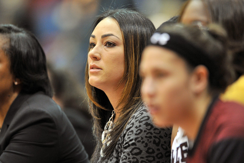 NOVEMBER 16 - PHILADELPHIA: Temple Owls assistant coach Way Veney watches the action during the NCAA ladies basketball game against Auburn  November 16, 2013 in Philadelphia