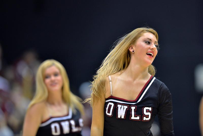 NOVEMBER 16 - PHILADELPHIA: A Temple Diamond Gems dancer performs during the NCAA ladies basketball game against Auburn  November 16, 2013 in Philadelphia