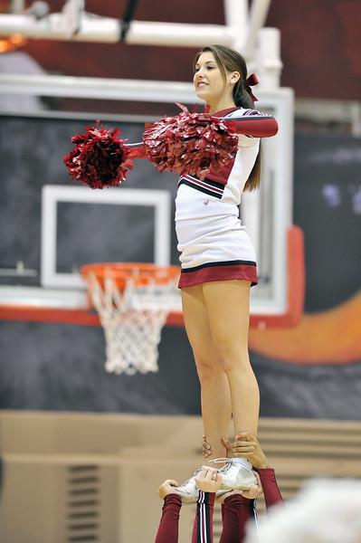 NOVEMBER 16 - PHILADELPHIA: A Temple cheerleader performs during the NCAA ladies basketball game against Auburn  November 16, 2013 in Philadelphia