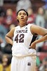 NOVEMBER 16 - PHILADELPHIA: Temple Owls center Taylor Robinson (42) watches a free throw during the NCAA ladies basketball game against Auburn  November 16, 2013 in Philadelphia