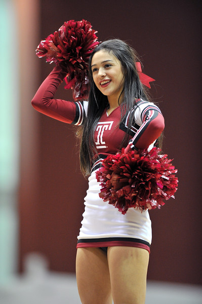 NOVEMBER 16 - PHILADELPHIA: A Temple cheerleader performs during the NCAA ladies basketball game against Auburn  November 16, 2013 in Philadelphia
