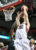 PHILADELPHIA - JANUARY 26: Temple Owls guard Dalton Pepper goes up strong for shot close to the hoop in an AAC basketball game against Cincinnati January 26, 2013 in Philadelphia.