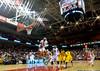 NOVEMBER 11 - PHILADELPHIA: Temple Owls center Anthony Lee (3) controls a rebound during the NCAA basketball game against Kent State November 11, 2013 in Philadelphia