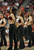 NOVEMBER 11 - PHILADELPHIA: The Temple Diamond Gems dance team performs during the NCAA basketball game against Kent State November 11, 2013 in Philadelphia