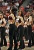 NOVEMBER 11 - PHILADELPHIA: The Temple Diamond Gems dance team performs during the NCAA basketball game against Kent State November 11, 2013 in Philadelphia