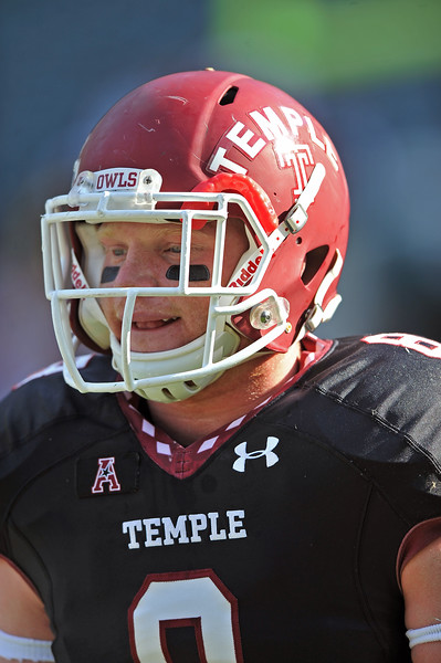 PHILADELPHIA - NOVEMBER 16: Temple linebacker Tyler Matakevich (8) on the field prior to the AAC college football game November 16, 2013 in Philadelphia.