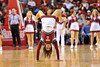 PHILADELPHIA - JANUARY 9: A Temple cheerleader performs a tumbling run during the AAC basketball game January 9, 2014 at the Liacouras Center in Philadelphia.