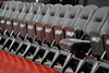 PHILADELPHIA - JANUARY 9: Comfortable court side seats await Temple University basketball fans well before the AAC basketball game January 9, 2014 at the Liacouras Center in Philadelphia.