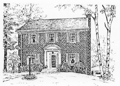1987:  House #1 Drawing commission of a Duluth home.