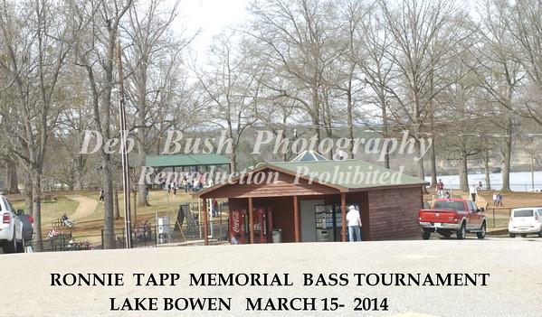 RONNIE  TAPP MEMORIAL BASS TOURNAMENT  - MARCH 15- 2014   LAKE BOWEN