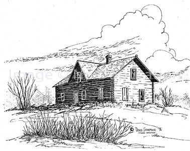 "1976:  ""The Mussaka House"", Pen & Ink"