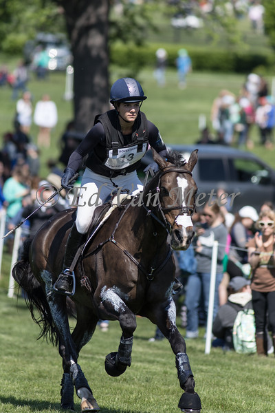Celien with Hallie Coon up in the Land Rover Kentucky 3 Day Event. 04.27.2019
