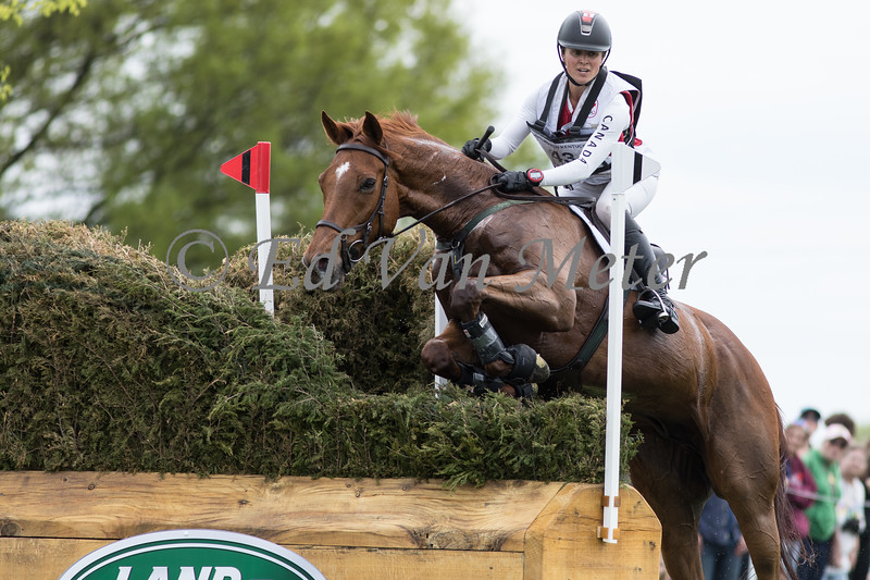 Bogue Sound with Jessica Phoenix up in the Land Rover Kentucky 3 Day Event. 04.27.2019