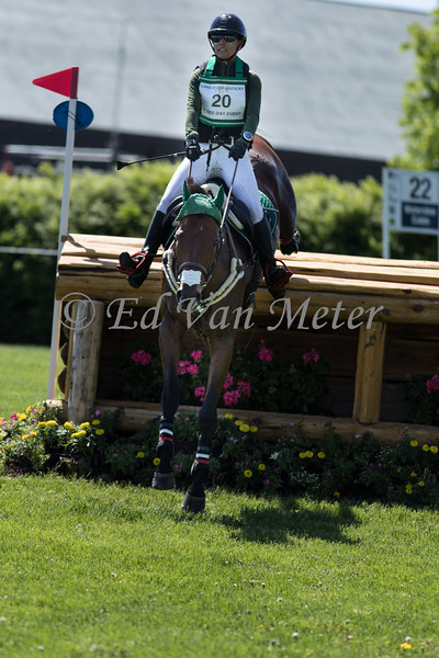Cecelia with Daniela Moguel up in the Land Rover Kentucky 3 Day Event. 04.27.2019