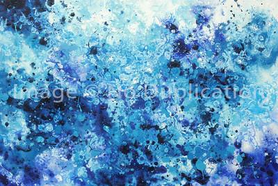"""""""Blues"""",   24x36 Acrylics"""