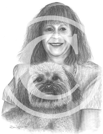 "2004:  ""Woman & Her Dog"" . . . commissioned by the woman's brother as a gift."