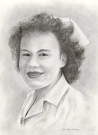 "2003:  ""Maxine"", the first people-portrait rendered after I started drawing seriously again in October of 2002."