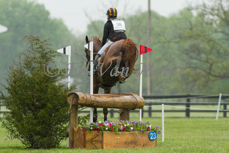 Houdini and Katie Ruppel in The Rolex Kentucky Three Day Event at The Kentucky Horse Park. 04.30.2016