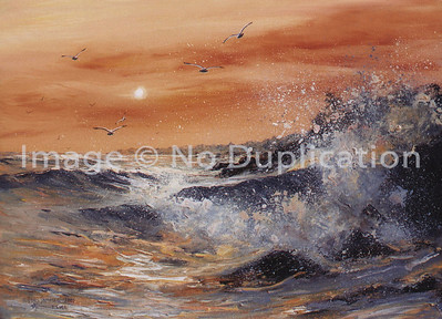 "2000:  ""Orange Seascape"", Acrylics"