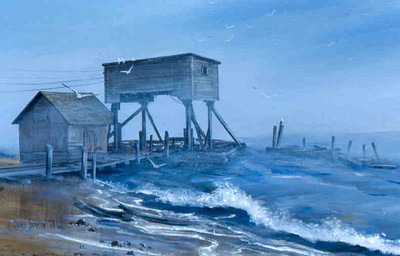 """""""Bodin's Fishery"""", South Shore of Lake Superior--Bayfield, I believe."""
